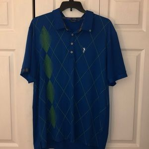 William Murray Argyle Golf/Polo Shirt size XL